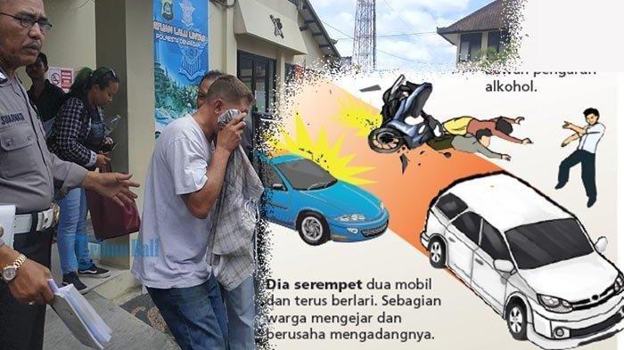Viral di Medsos, Turis Bule Mabuk Mengendarai Mobil Ugal-ugalan di Bali hingga Tabrak 4 Kendaraan