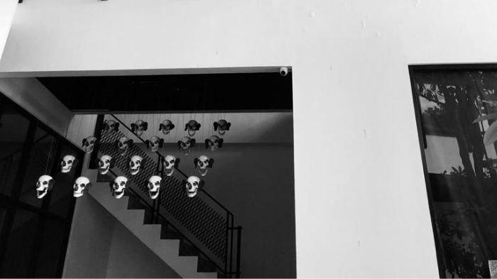 Salah satu instalasi seni di Pameran The Wanderlust