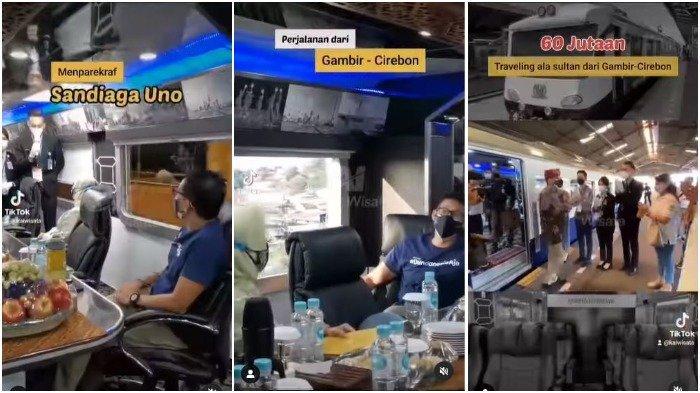 Sandiaga Uno Jajal Naik Kereta Sultan, Intip Fasilitas Mewahnya