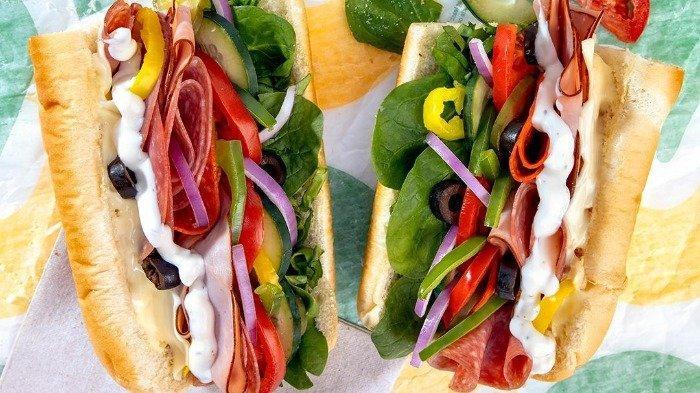 Sandwich di restoran Subway