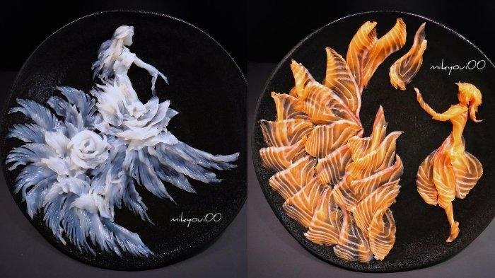 Seniman Amatir dari Jepang Ini Buat Karya Seni dengan Menggunakan Daging Ikan, Intip Keindahannya