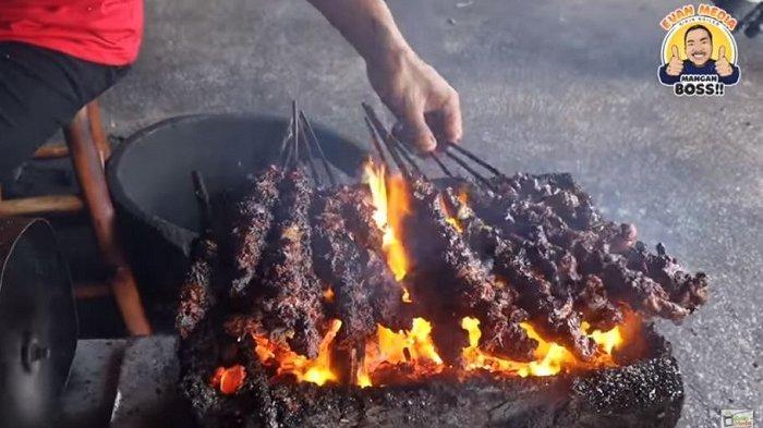 Viral Sate Kambing di Klaten dengan Potongan Daging Jumbo, Tusuk Sate Pakai Jeruji Besi