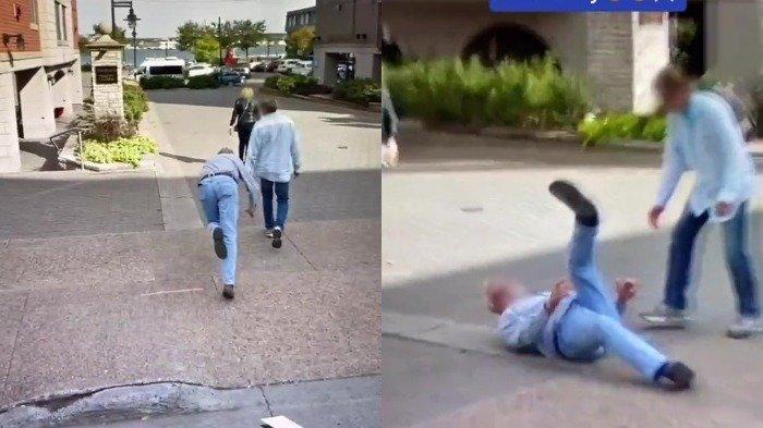 Tertangkap Google Earth, Momen Kocak Pria Tersandung saat Menyeberang Jalan
