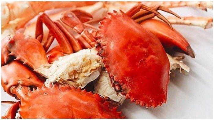 Sajian menu kepiting di The Holy Crab