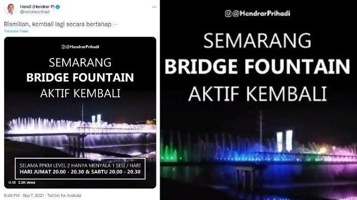 Semarang Bridge Fountain atau air mancur menari di Semarang