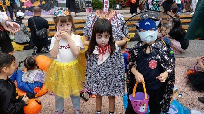 Viral di Medsos, Foto-foto Gadis Kecil Berkostum Hantu Tanpa Kepala saat Rayakan Halloween