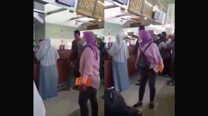 Viral di Medsos, Wanita Ngamuk di Bandara, Diduga Gara-gara Gagal Swab Test