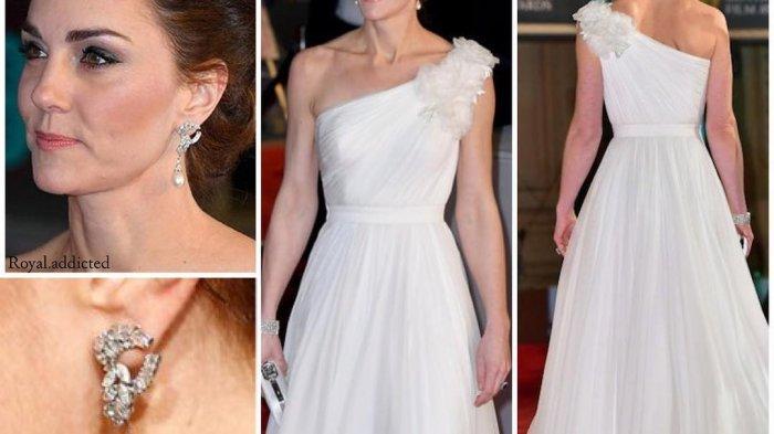 Kate Middleton kenakan sepatu perak dari Jimmy Choo Romy