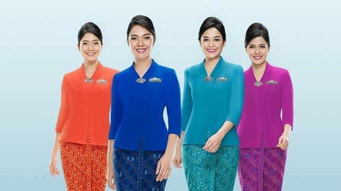 Jarang Diketahui, Ini Makna dari 4 Warna Seragam Pramugari Garuda Indonesia