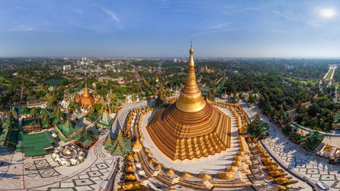 Ilustrasi Shwedagon Pagoda, Myanmar