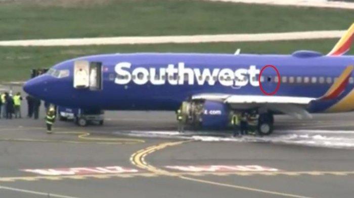 Mengerikan! Penumpang Southwest Airlines Tersedot di Lubang Jendela yang Rusak di Ketinggian 9.000M