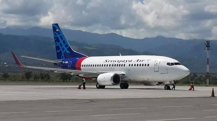 Pesawat Boeing 737 maskapai penerbangan Sriwijaya Air