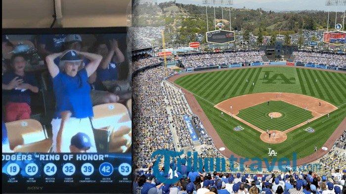 Stadion Dodger - Nenek Ini Buat Satu Stadion Heboh, Ternyata Ia Lakukan Gerakan Mengejutkan