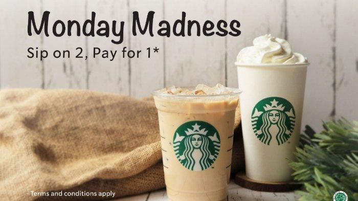 Hanya Hari ini Promo Starbucks Treats 'Monday Madness' Buy One Get One Free dengan Kupon LINE