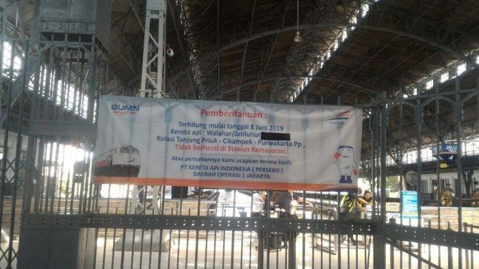 Kereta dari Stasiun Tanjung Priok Tidak Berhenti Lagi di Stasiun Kemayoran Mulai 8 Juni