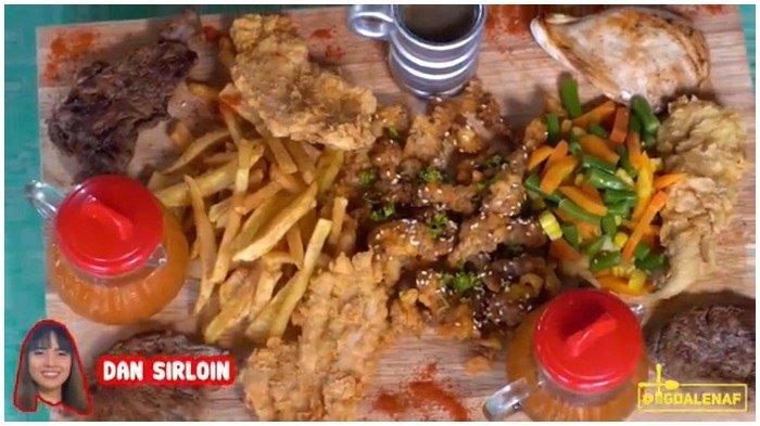 Sajian steak di Steak Potik