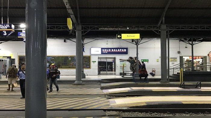 Suasana di Stasiun Solobalapan, Kamis (11/7/20190 pukul 04.30