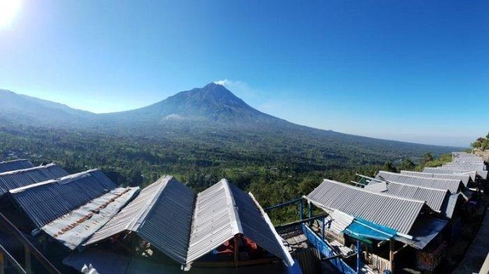 Suasana wisata di Ketep Pass, Sawangan, Kabupaten Magelang, Senin (5/10/2020).