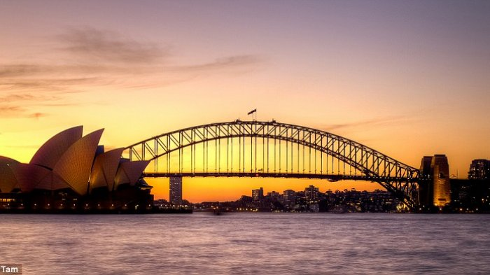 Sunset di Sydney, Australia