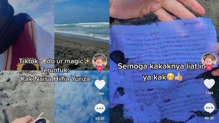 Viral Surat Cinta 6 Tahun Lalu Ditemukan di Pantai, Penulis: Tolong Sampaikan pada Pujaan Hatiku