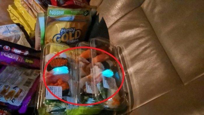 Viral di Medsos, Keluarga Ini Kaget Lihat Udang dari Sushi yang Dibeli Pancarkan Cahaya Biru
