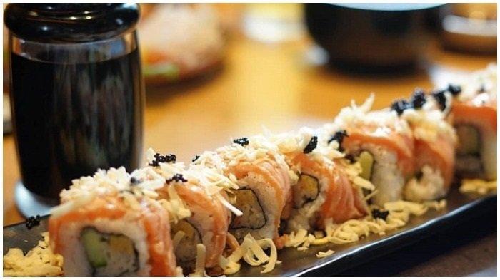 Ilustrasi Sushi di Sushi Tei