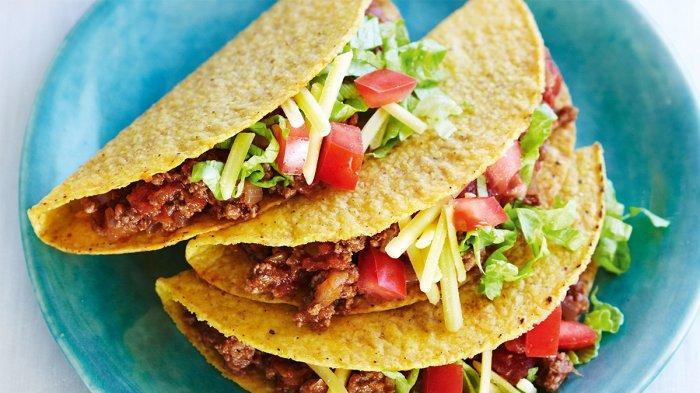 Taco, kuliner Meksiko.