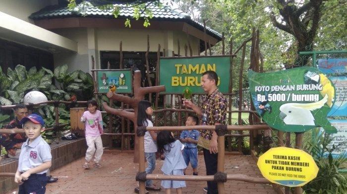 Lokasi foto bersama hewan di Taman Burung TMII