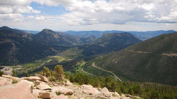 Ilustrasi taman nasional di Amerika Serikat.