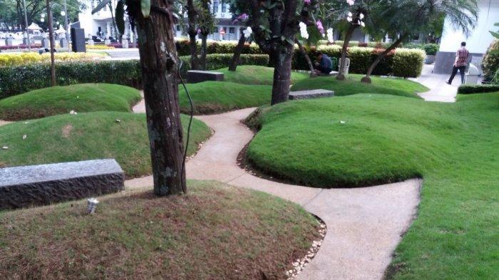 Taman Teletubies di Balai Kota Bandung, Kamis (8/6/2017).