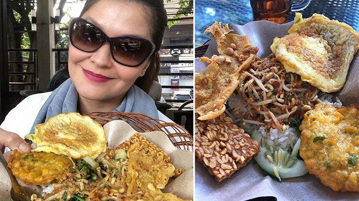 Lagi di Malang, Tamara Bleszynski Bagikan Kelezatan Pecel Kawi yang Legendaris