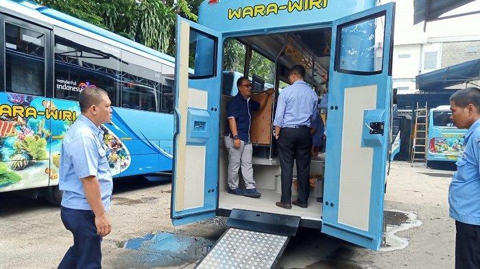 Tampak Belakang Desain Bus Ancol Wara-Wiri yang Baru
