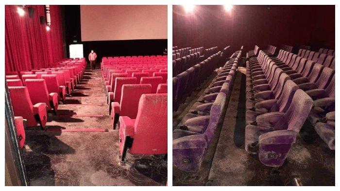 Viral di Medsos, Bioskop Tutup 2 Bulan Akibat COVID-19, Kondisi Kursi Jamuran