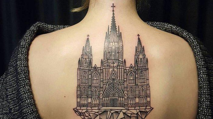 8 Potret Tatto dengan Tema Gambar Bangunan Arsitektur yang Cantik