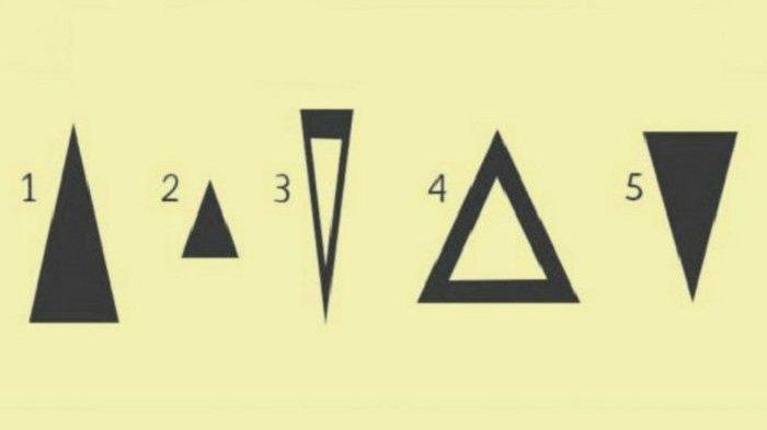 Tes Kepribadian dengan memilih gambar segitiga (humanexplore.com)