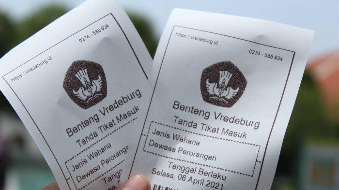 Tiket Museum Benteng Vredeburg, Selasa (6/4/2021).