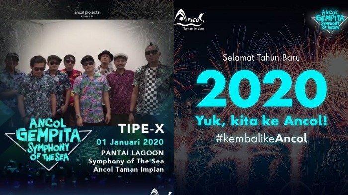 Jadwal Konser di Ancol Tanggal 1 Januari 2020, Ada Penampilan Tipe-X di Tepi Pantai