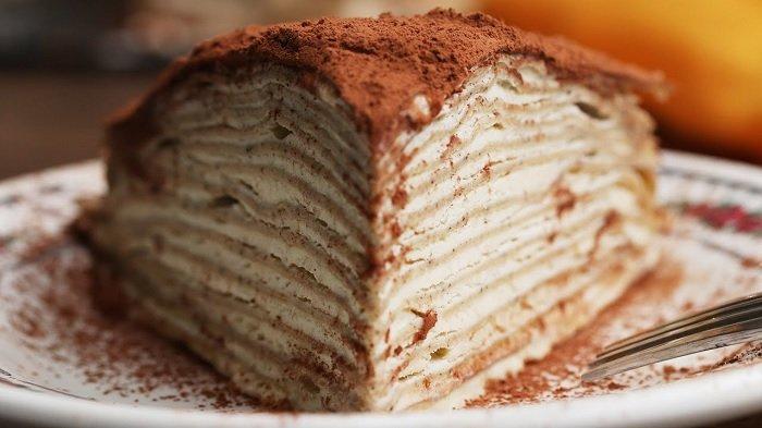 Resep Tiramis Mille Crepes, Kue Seribu Lapis yang Enak Buat Teman Ngopi di Rumah