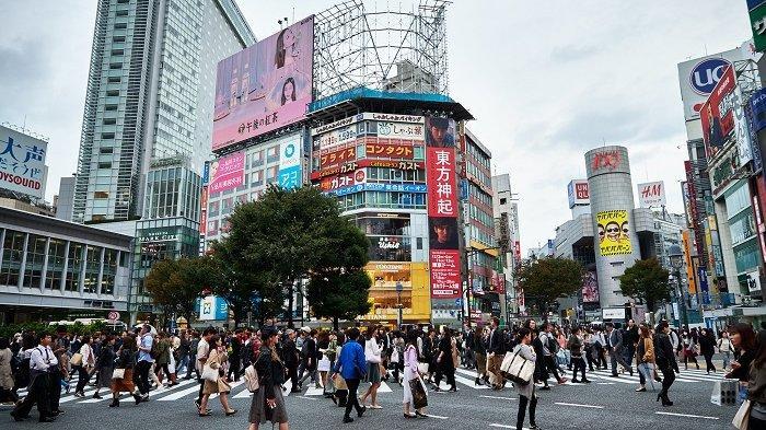 Ilustrasi suasana Kota Tokyo di Jepang