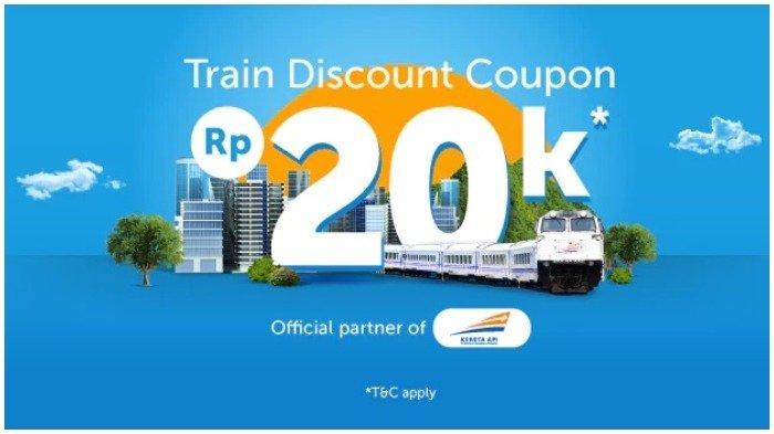 Liburan Lebih Hemat, Traveloka Berikan Diskon Tiket Kereta hingga Rp 20 Ribu untuk Semua Rute Kereta