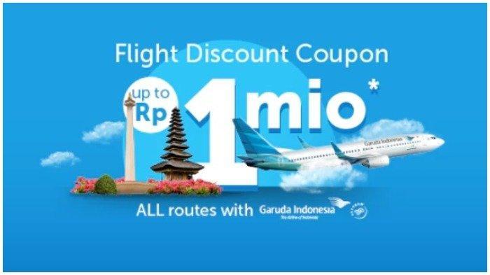 Ilustrasi diskon tiket pesawat hingga Rp 1 juat hanya di Traveloka.com