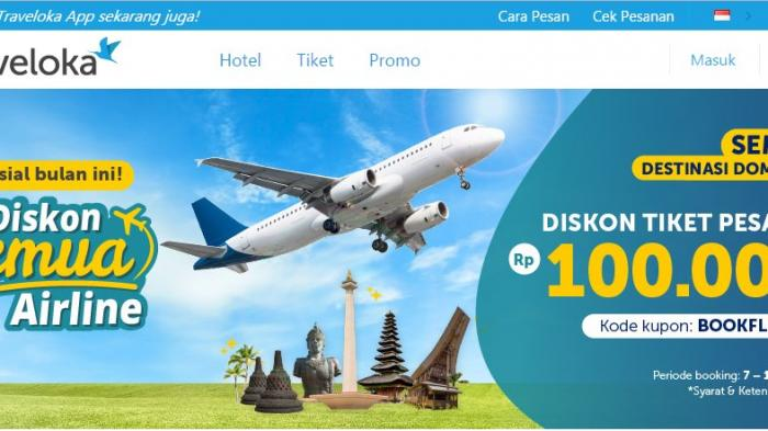Promo Traveloka Hari Ini Terakhir Buruan Booking Tiket Pesawat Dapat Diskon Ke Semua Maskapai Tribun Travel