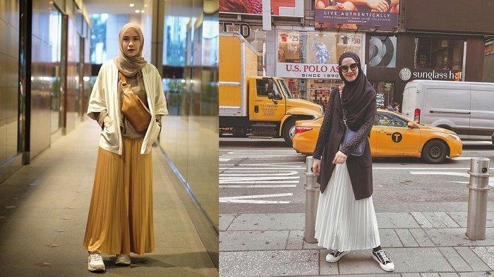 Tren Gaya Hijab 2019 yang Cocok Buat Traveling, Padukan Rok Lipit dan Outer ala Artis Indonesia