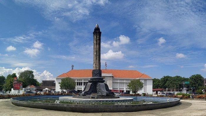 Tugu Muda di Semarang, Jawa Tengah, Minggu (26/1/2020)