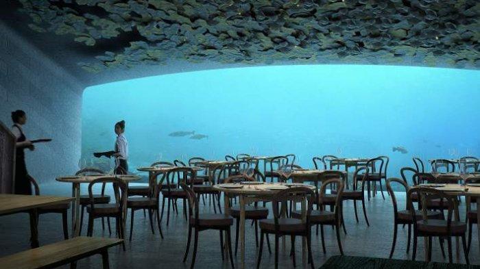 Under Restaurant di Norwegia Ini Menawarkan Sensasi Menikmati Makanan di Bawah Laut