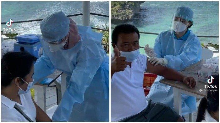 Viral Video Vaksinasi di South Shore Yogyakarta, Sambil Nikmati Panorama Pantai