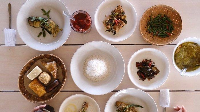 Varian menu makan di Tumpeng Menoreh Kulon Progo
