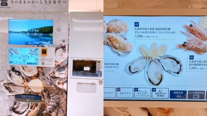 Unik! Mesin Penjual Otomatis di Jepang Jual Makanan Laut Mentah & Siap Saji, Dilengkapi Microwave