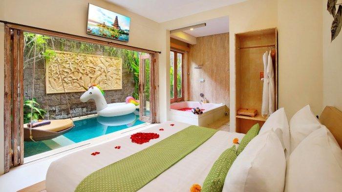 3 Villa Dengan Private Pool Di Bali Tarif Per Malam Cuma Rp 500 Ribuan Tribun Travel