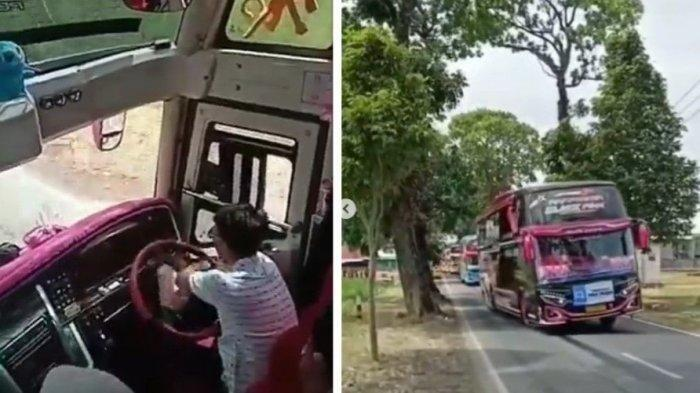 Viral Video Supir Bus Mainkan Setir Oleng Kanan Kiri di Jalan Raya, Malah Bikin Penumpang Girang